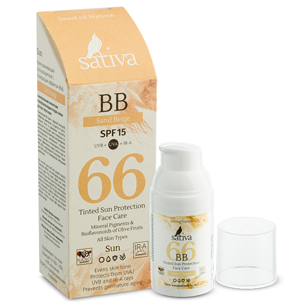 Kem chống nắng BB Tined Sativa66 Sand Beige