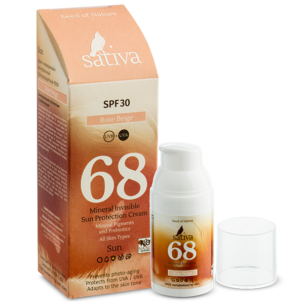Kem chống nắng Mineral Invisible Sativa68 Rose Beige